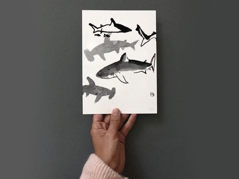 Dessiner la faune marine à l'encre de chine !